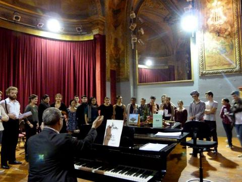 Rehearsal with Opera Junior before l'Enfant et les Sortilege - Montpellier