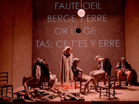Scene du feu Opera Orchestre National de Montpellier